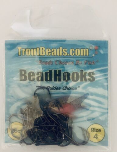 TROUTBEADS HOOK 25 HOOKS PER PACK **NEW** SIZE 4