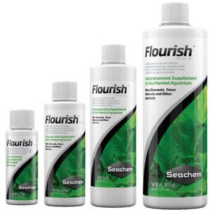 Seachem-FLOURISH-50-100-250-500ml-Live-Aquatic-Plant-Food-Nutrients-Fertiliser