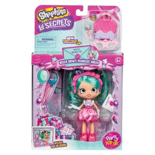 Shopkins Lil secrets shoppies poupée BELLA Bows Princess Party NEUF