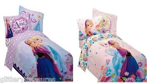 Kids Girls Disney Frozen Anna And Elsa Bed In A Bag
