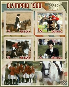 Stamps Olympic Games1980 in Moscow  equestrian sports