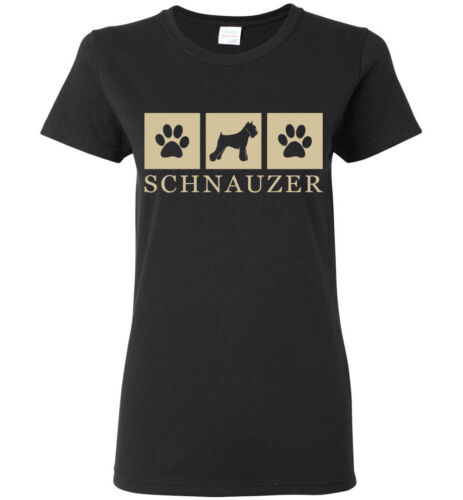 Youth Schnauzer Silhouette T-Shirt Tee Womens Long Sleeve Short Mens Tank