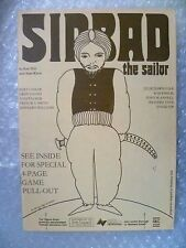 1981 Theatre Programme SINBAD THE SAILOR by Ken Hill,Brian Murphy