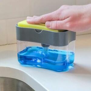 Kitchen-Dispenser-Sink-Caddy-Basket-Dish-Cleaning-Sponge-Holder-Soap-Dispenser