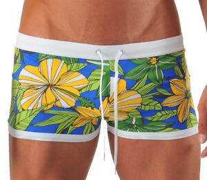 1b5689cb0e Image is loading Geronimo-Mens-Swimwear-Square-Cut-Floral-Boxer-Trunks-