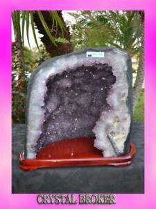 Amethyst-Geode-Cathedral-w-Cut-base-Super-Quality-Rainbows-Quartz-Crystals