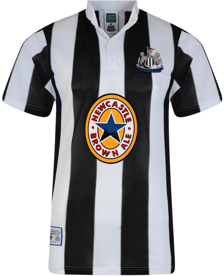 Score Draw Newcastle United 1996 Home Retro Mens Football Shirt