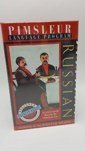 Pimsleur-Principiante-programa-de-idioma-ruso-1995-Cassette-Audio-totalmente