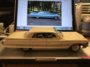 Jo-Han Rare 1962 Cadillac Fleetwood Dealer Promo Car. White W/Blue Int