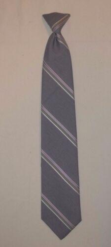Mens Clip On Dress Ties Stripes Solids Burgundy Blue Estate Sale!