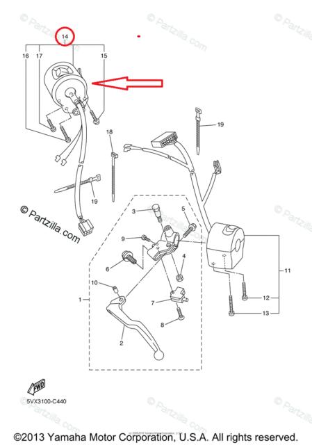 2013 yamaha fz6r left clip on handle horn signals switch switches ebay rh ebay com