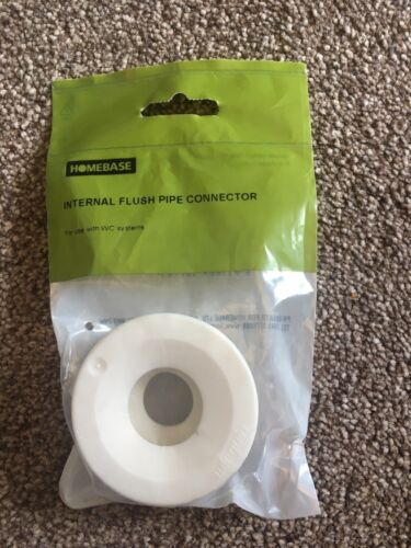 WC Toilet Systems Homebase White Flush Pipe Connector Internal Soft Rubber