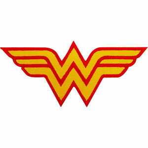 Wonder Woman Patch Embroidered Iron Sew On T Shirt Bag Fancy Dress Costume Badge