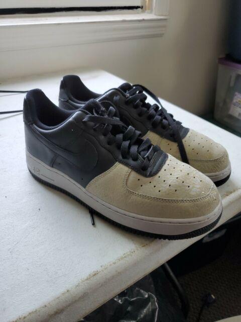 moda designerska zamówienie super słodki MEN Nike Air Force 1Elephant Print Low Black Neutral Grey 317295 002 Size 10