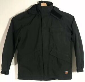 Details about Timberland Pro Series Waterproof Black D JACKET LINING Reversible Hooded LARGE