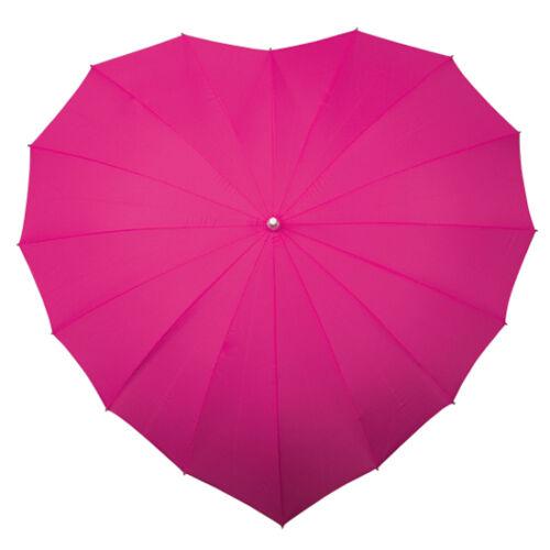Herzschirm viele Farben mit Aufdruck Hochzeitsschirm Sonnenschirm Regenschirm!