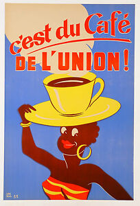 vintage print poster retro art nouveau CAFE coffee advertising french painting