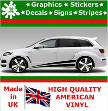 """10"""" High Car Side Stripes Graphic Decal Vinyl Stickers Van Auto Rally Race F1_26"""