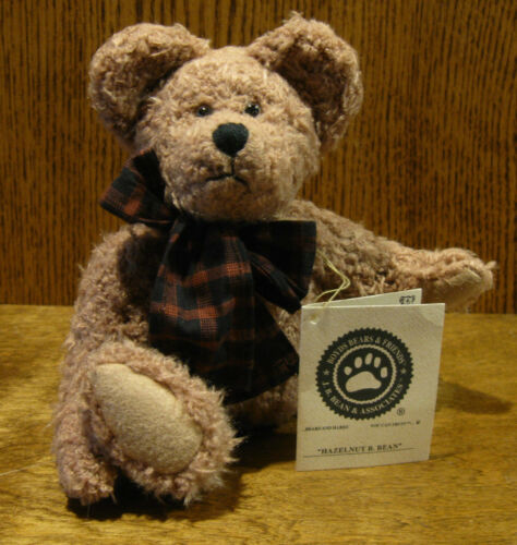 """Boyds Plush #500100-05 Hazelnut B Bean 8.25/"""" NEW//Tag From Retail Store Jointed"""