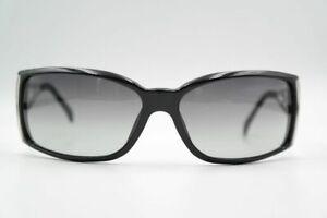 Donna-Karen-DK-1021-3168-62-15-Black-Silver-Oval-Sunglasses-New