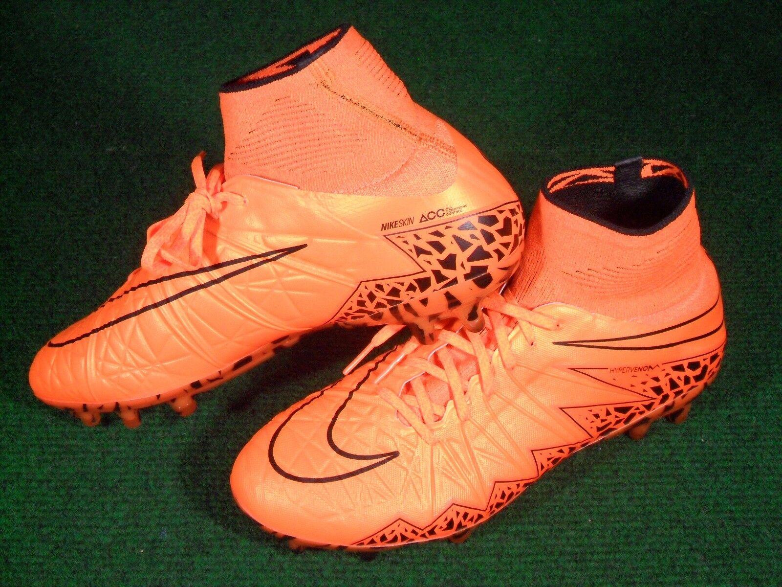 New  Herren Hypervenom Phantom II FG Soccer Football Cleats Football Soccer Stiefel Orange 7.5 747213 900075