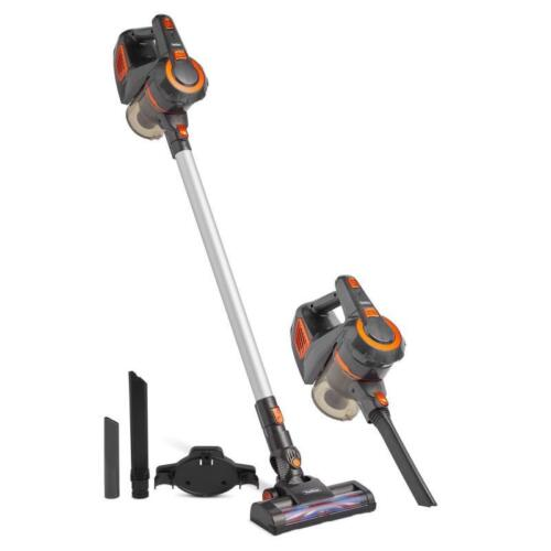 Cordless Upright Vacuum Cleaner Handheld Portable Vac Cleaners Lithium Ion Grey