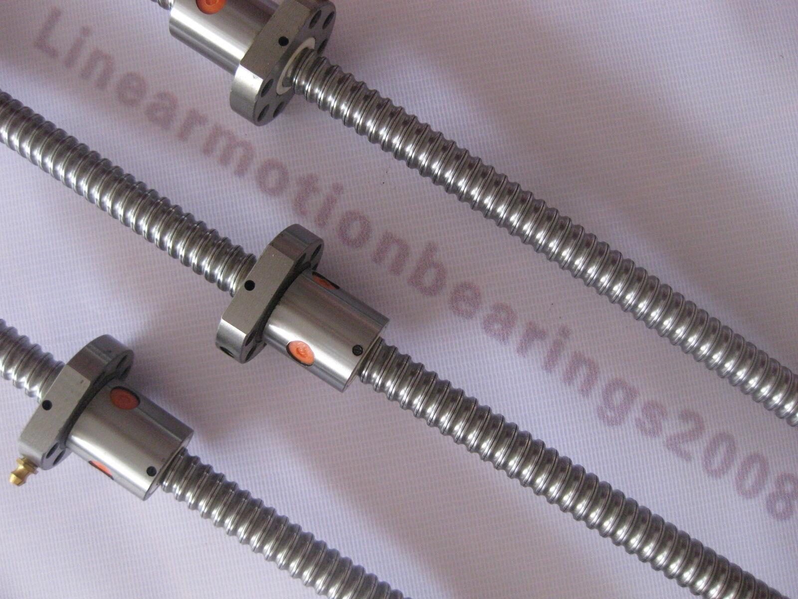3 ANTI BACKLASH BALLSCREW RM1605-200//500//550MM-C7 BALL SCREWS BALL NUT SET CNC