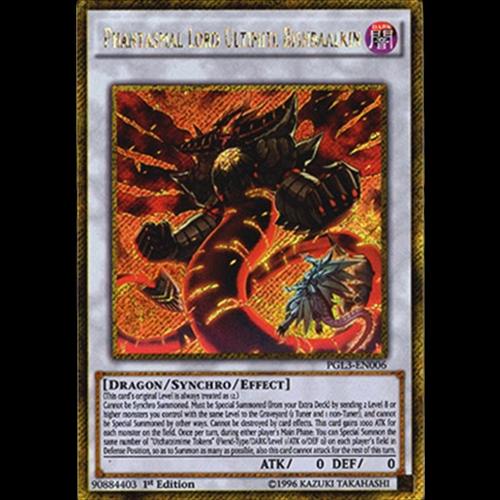 PGL3-EN006 Phantasmal Lord Ultimitl Bishbaalkin Premium Gold: Infinite Gold