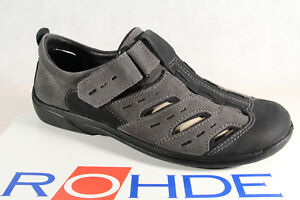 Rohde-Men-039-s-Slipper-Shoes-Trainers-Sandals-Grey-New