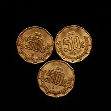 (3) 50 Centavos 2002-2003  & 2004  Mexico -Ship 50Cts Per item Added.