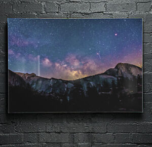 Wall-Art-Glass-Print-Canvas-Picture-ANY-SIZE-Night-Sky-Stars-Galaxy-p116191