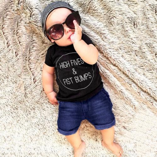 2Pcs Toddler Kid Baby Boy Various Print Tops T shirt+Shorts Outfits Set Clothing