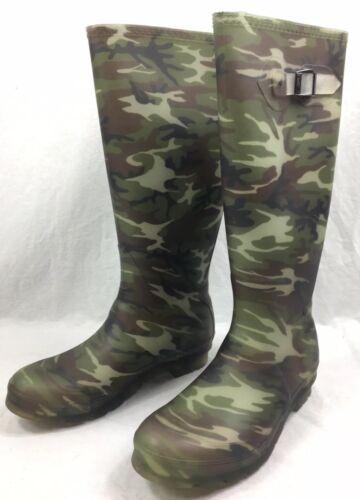 Kamik Femme Squad En Caoutchouc Bottes de pluie Taille 8-Imperméable-Camouflage-New in Box