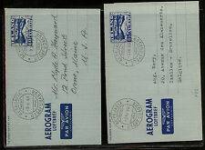 Iceland  2 air letter sheets used  60 and 85 aur          MS1014