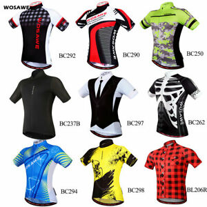 Mens-Cycling-Jersey-MTB-Road-Team-Bike-Short-Sleeve-Elastic-Jersey-Bicycle-Tops