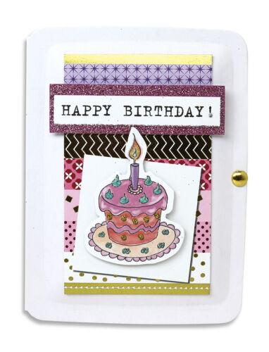 Geburtstagskarte Karte Geldgeschenk Glitzerkarte 3D-Applikation