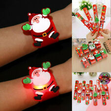 12x Kids Christmas Wristband LED Light Up Flashing Bracelets Gifts Xmas Ornament