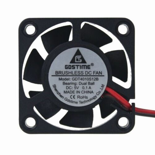 2pcs Ball Bearing 5V 4cm 40mm 40x40x10mm Brushless PC Cooling Cooler Fan 2Pin