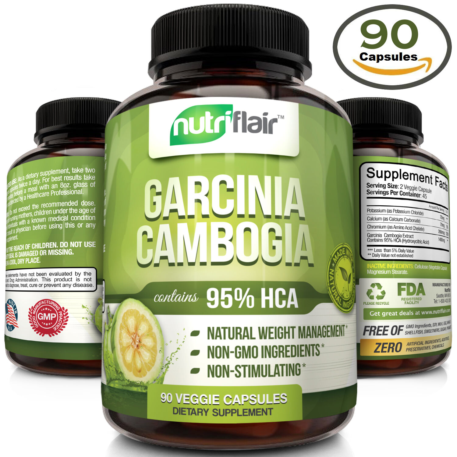 Pure Garcinia Cambogia Extract 95% HCA Diet Pills Burn Fat Natural Weight Loss | eBay