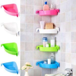 Image Is Loading Suction Cup Corner Shelf Shower Basket Caddies Storage