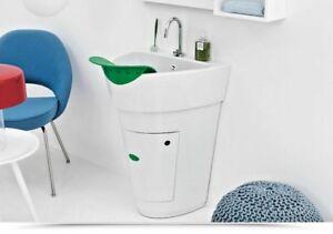 Lavatoio lavapanni design cm 60 Colavene Pot strofinatoio foglia ripiano interno