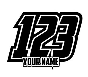 Image Is Loading 3 SETS Custom Race Numbers And Name Stickers