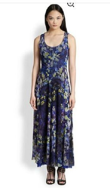 GORGEOUS GORGEOUS GORGEOUS NWT SOLD OUT FUZZI FLORAL MAXI MESH DRESS BY JEAN PAUL GAULTIER 53b580