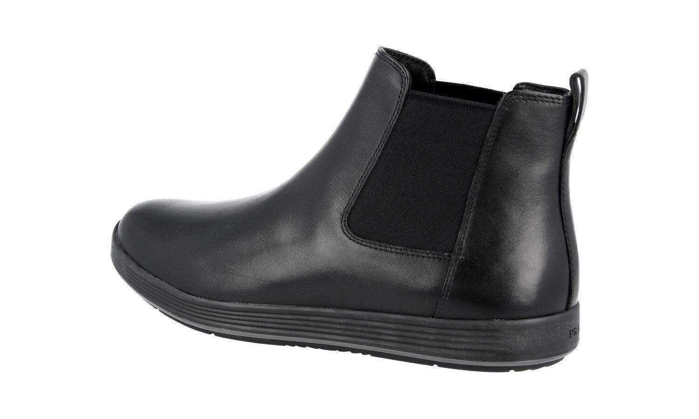 Auth LUXURY PRADA Medio-bota zapatos 4T3153 Negro Nuevo Nuevo Nuevo 11,5 45,5 46 a5b23e