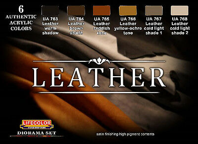 Lifecolor LFC-CS30 - Leather Diorama Acrylic Set (6 22ml Bottles)