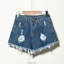 UK-Vintage-Ripped-Womens-High-Waist-Stonewash-Denim-Shorts-Jeans-Hot-Pants-6-22 thumbnail 13