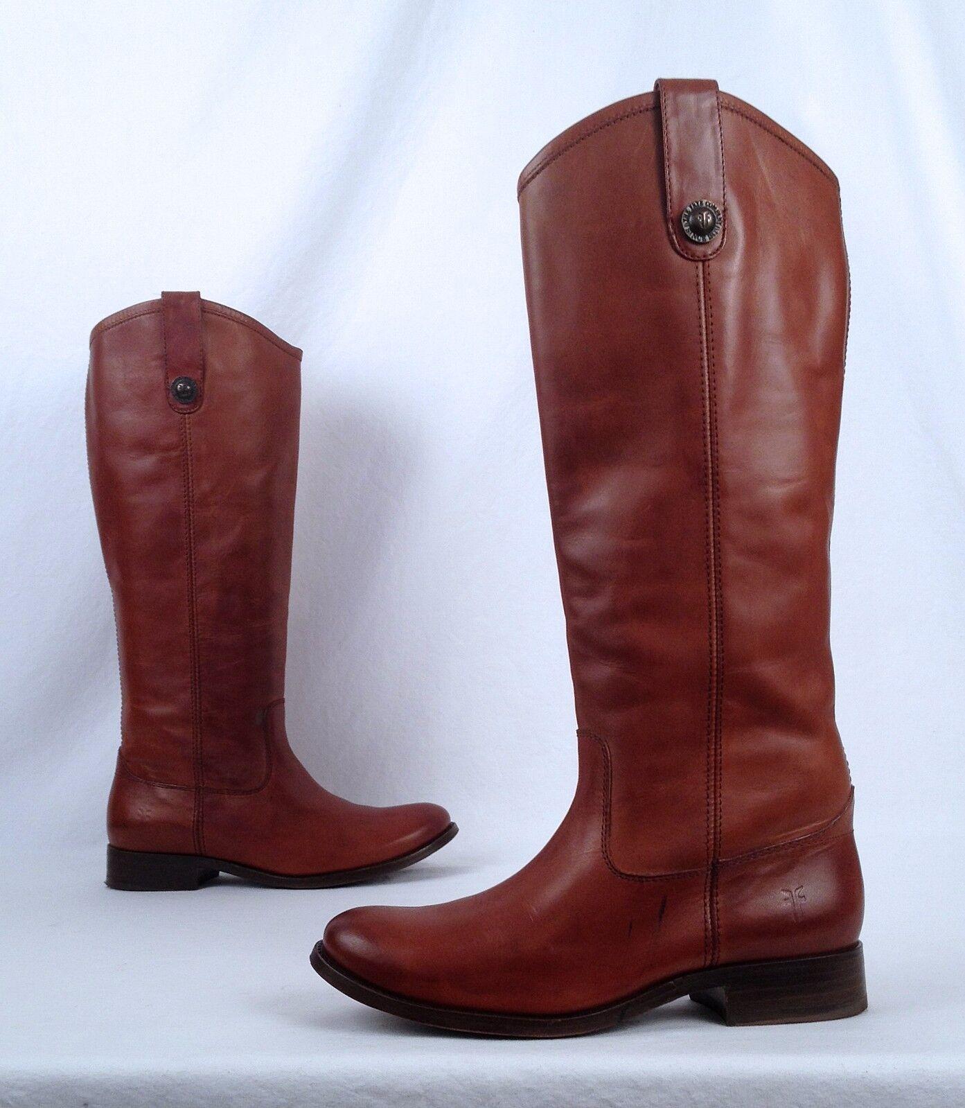Frye Melissa Button Boot- Cognac- Size 6 B  (BX5)