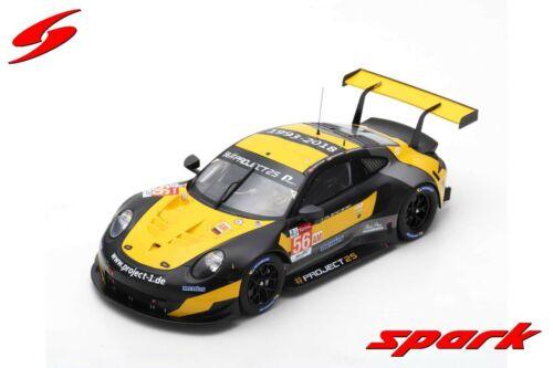 Bergmeister 1//18 PORSCHE 911 RSR N°56 24H Le Mans 2018 J Spark 18S396