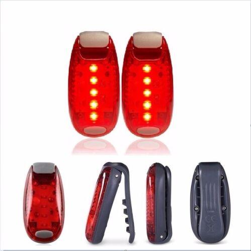 Pack 2 DEL Lampe De Sécurité pour la course à pied jogging Clip sur lumière stroboscopique