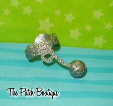 MONSTER HIGH POWER GHOULS SPECTRA DOLL OUTFIT REPLACEMENT SILVER BALL CHAIN BELT